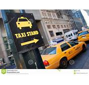 New York Taxi Stand Stock Image Of Sign Driving