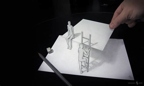 Three D Sketches by New 3d Illusion Drawings By Alessandro Diddi Scene360