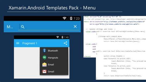 xamarin android templates pack material design xamarin templates