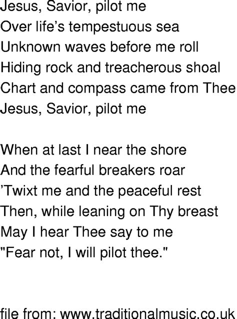 song for jesus time song lyrics jesus savior pilot me