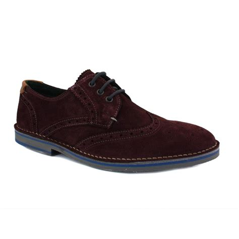 ted baker jamfro 2 9 12757 mens laced suede derby brogue