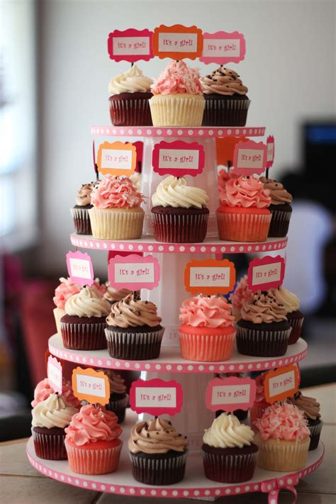 Cupcake Tower For Baby Shower by Baby Shower Cupcake Tower Cupcakes