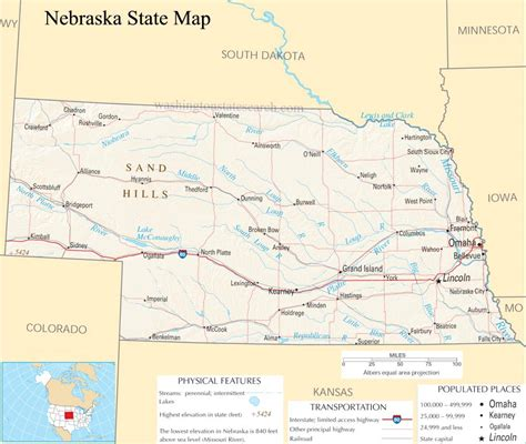 Nebraska Search Map Of Nebraska Images