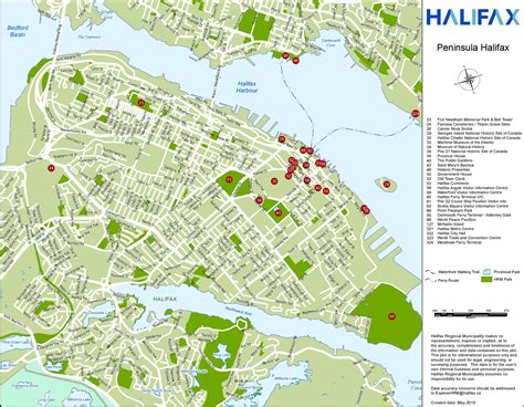 tourist map of canada halifax tourist attractions map