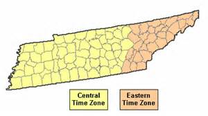 Tn Time Zone Map by Current Time In Tennessee