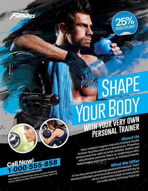 creative flyer design graphicriver fitness flyer by inddesigner graphicriver