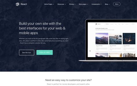 Download React Business Theme Bootstrap Luca Templates React Web Page Template