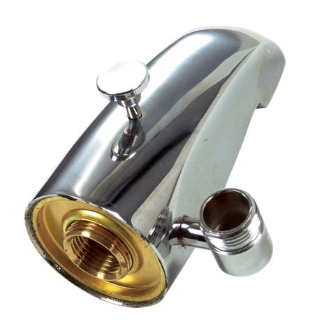 bathtub faucet diverter shop danco chrome tub spout with diverter at lowes com