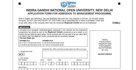 Mba Form by Ignou Degree Certificate Sle Choice Image Certificate