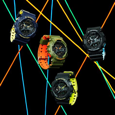 G Shock Collour casio g shock ga110ln layered neon color watches