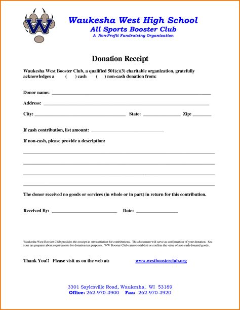 charity donation receipt template non profit donation receipt templatereference letters