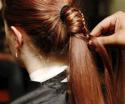 step by step ladder braid diy ladder braid to fancy up your ponytail 4 styleoholic