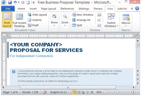 Free Services Proposal Template Business Service Template