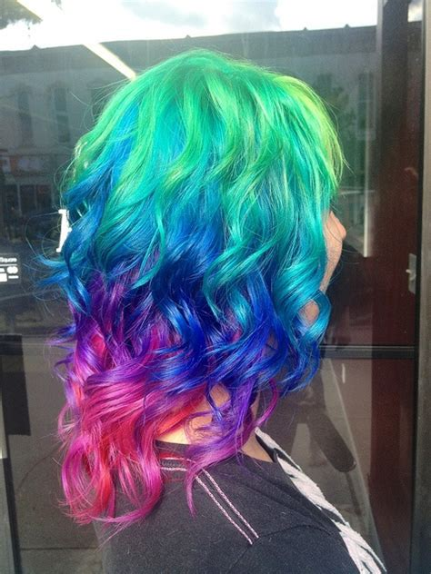 hairstyles bright colors 2014 hot ombre highlights trend 30 rainbow colored