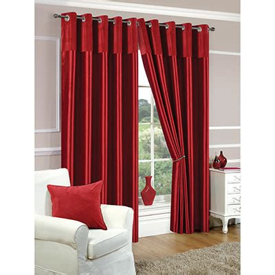 red faux silk curtains faux silk red eyelet curtains chiltern mills