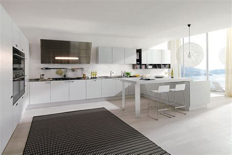 modern kitchen with white cabinets have the contemporary white kitchen cabinets for your home