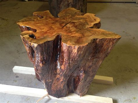Tree Stump End Table live edge tables tree stump table tree stump by urbanwoodllc