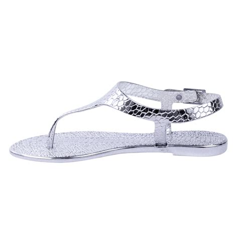 Jelly Shoes Sz37 New new womens summer jelly sandals flip flops flat casual shoes size ebay