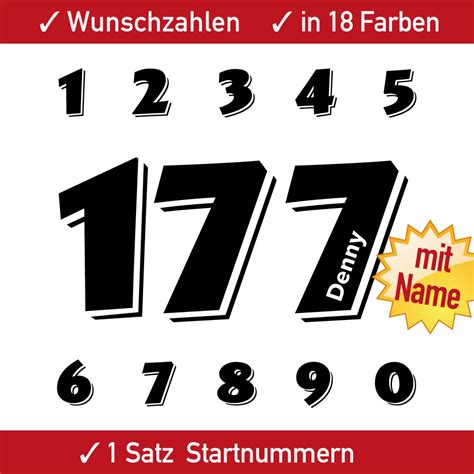 Motorrad Startnummer Aufkleber by Motorrad Startnummer Einfarbig Mit Namen Mx Quad Kart
