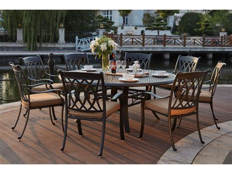 darlee cast aluminum outdoor patio round square bar stool darlee outdoor living standard capri cast aluminum 9