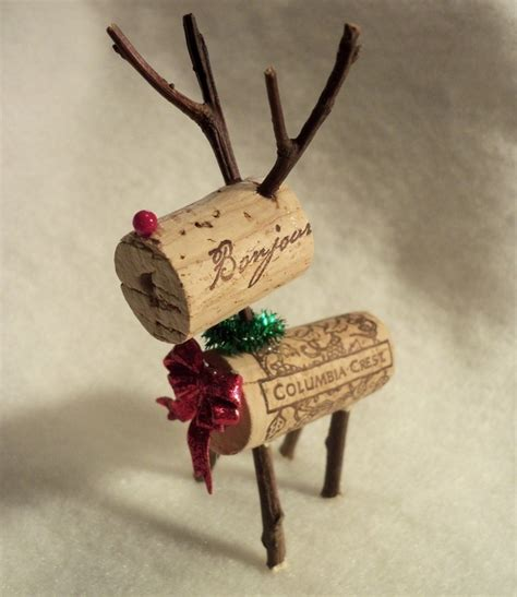 wine cork reindeer crafts pinterest