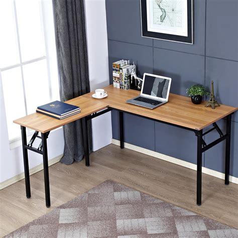 folding l shaped desk amazon com need 55 quot x 55 quot l shaped folding computer desk