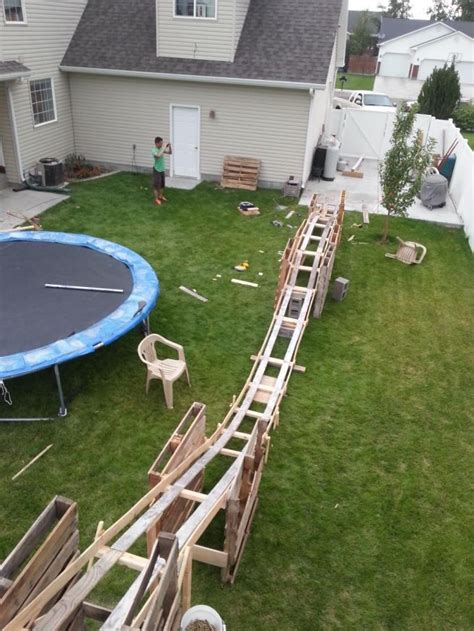roller coaster for backyard diy backyard roller coaster outdoor furniture design and
