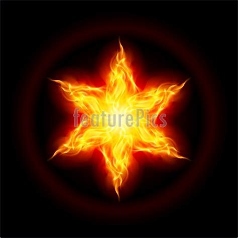 of fire and stars illustration of fire star
