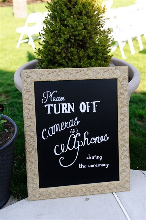 Eheringe Zeichen by Unplugged Wedding Sign No Cameras Wedding