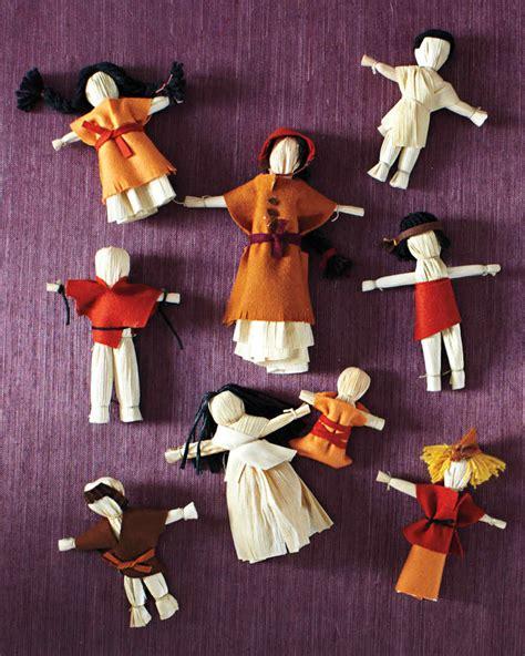 corn husk doll project fall crafts martha stewart