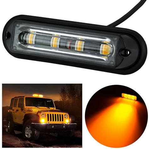 4led Light Bar Beacon Vehicle Grill Strobe Emergency Led Vehicle Light Bar