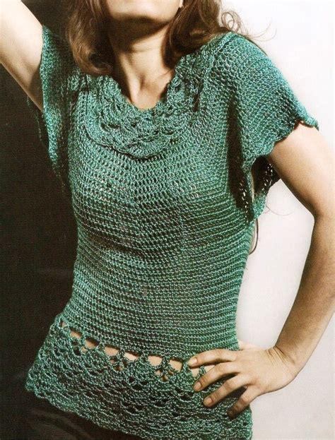 cadenas cortas para mujer patrones de tejido gratis blusa de manga corta