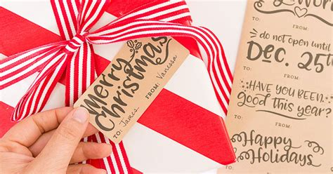 diy christmas gift tag label printables onlinelabelscom