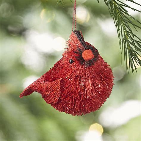 cardinal tree ornaments buri cardinal ornament crate and barrel