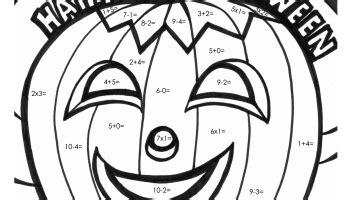 halloween coloring pages math facts halloween math coloring squares worksheets pages sketch