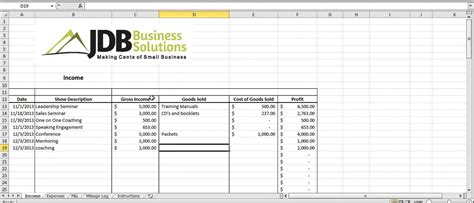 Tax Spreadsheet by Accounting And Tax Spreadsheet For Entrepreneurs