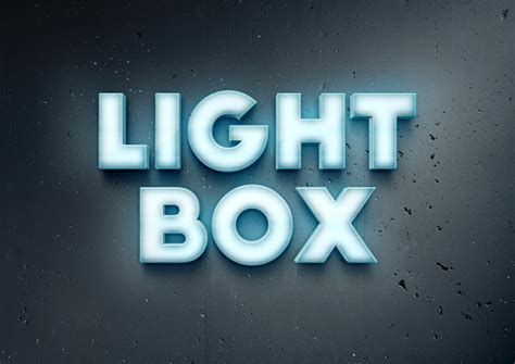 how to make 3d neon light typography lightbox text effect graphicburger