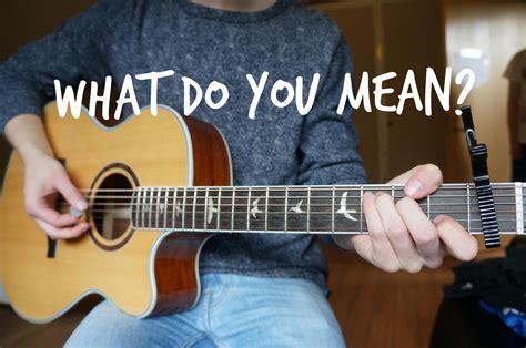 tutorial guitar what do you mean justin bieber what do you mean guitar cover matti