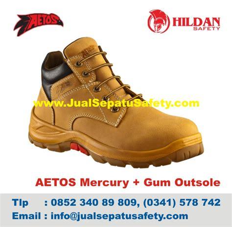 Sepatu Safety Merk Aetos pabrik sepatu aetos mercury gum outsole import murah