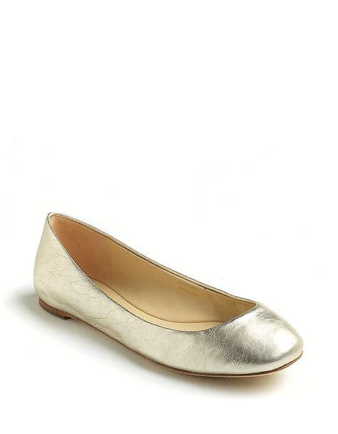 vera wang shoes flats vera wang lara leather ballet flats in silver lyst