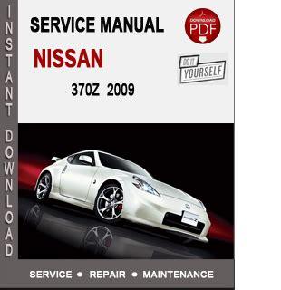 Nissan 370z 2009 Service Repair Manual Download