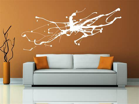 wandtattoo abstrakte kunst moderner tintenfleck