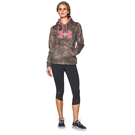 womens realtree camo hoodie sweatshirt s armour camo big logo hoodie 635828