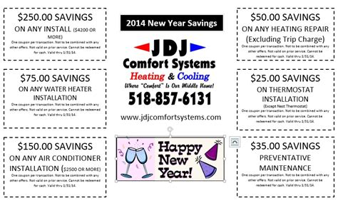 jdj comfort systems new year 2014 savings