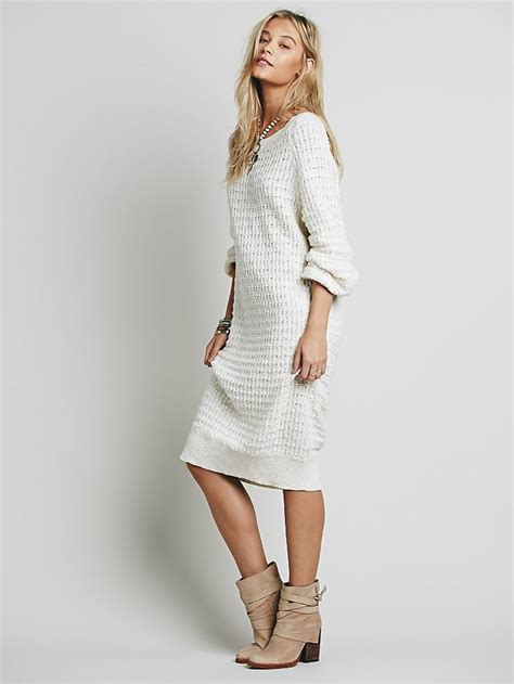 Dress Of The Day White Hoodie Dress by 5 Sweater Dresses For 300