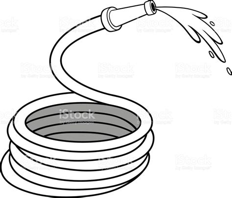 water hose coloring page garden water hose illustration stock vector art more