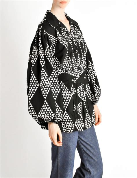Levis Sleeve Grey Triangle Batik voodoo shirt vintage black white batik print shirt