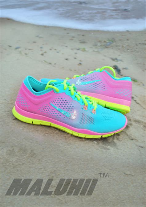 bright colored athletic shoes shoes sneakers colorful color pattern bright bright