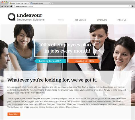 free templates for recruitment website 26 beautiful website templates for small businesses