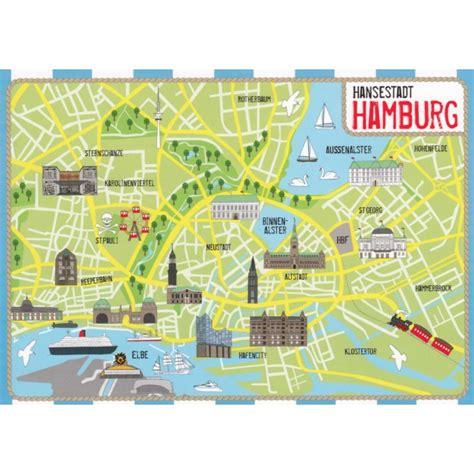 hamburg karte ansichtskarten maps landkarten hamburg map